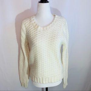 Lole Acrylic/Wool Waffle Weave Sweater M